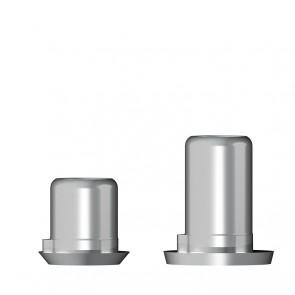 Titanbasis für Zirkonaufbau 2. Generation / Biomet 3i Außenhex®