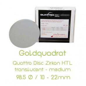 Goldquadrat Quattro Disc Zirkon HTL translucent - medium