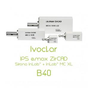Ivoclar IPS e.max ZirCAD Sirona InLab® + InLab® MC XL - B40