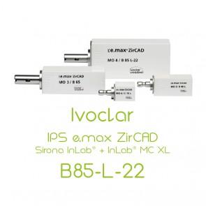 Ivoclar IPS e.max ZirCAD Sirona InLab® + InLab® MC XL - B85-L-22