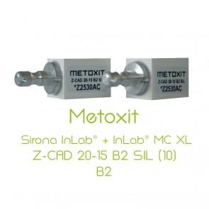 Metoxit Sirona InLab® + InLab® MC XL Z-CAD 20-15 B2 SIL (10)