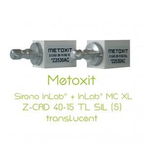 Metoxit Sirona InLab® + InLab® MC XL Z-CAD 40-15 TL SIL (5)