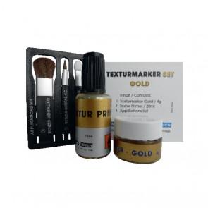 Benzer Texturmarker Gold / Silver