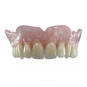 Composite-Disc Pressing Dental Smile-Cam Total Prosthesis 25 mm pink with fiber