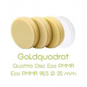 Composite-Disc Goldquadrat Quattro Disc Eco PMMA