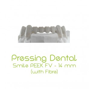 Composite-Disc Pressing Dental Smile PEEK-FV 14mm - Beige