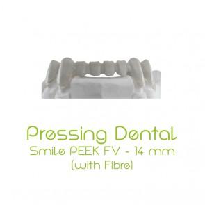 Composite-Disc Pressing Dental Smile PEEK-FV 14mm - Beige