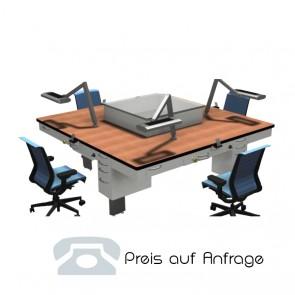 Form+Funktion Arbeitstisch Quadrat - 4 Plätze