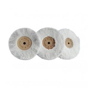 Polirapid Plüschmullen Baumwolle 50-120mm Holzkern