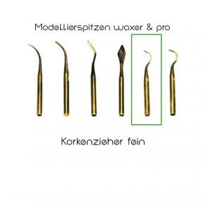 Yeti Modellierspitzen waxer/pro/Korkenzieher fein