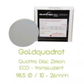 Goldquadrat Quattro Disc Zirkon ECO - translucent