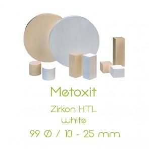 Metoxit Zirkon HTL - 99 Ø  /  10 - 25mm - white