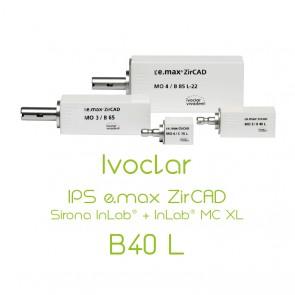 Ivoclar IPS e.max ZirCAD Sirona InLab® + InLab® MC XL - B40L