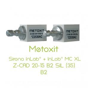 Metoxit Sirona InLab® + InLab® MC XL Z-CAD 20-15 B2 SIL (35)