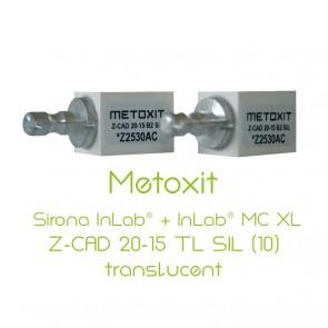 Metoxit Sirona InLab® + InLab® MC XL Z-CAD 20-15 TL SIL (10)