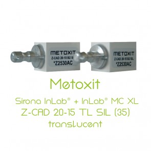 Metoxit Sirona InLab® + InLab® MC XL Z-CAD 20-15 TL SIL (35)